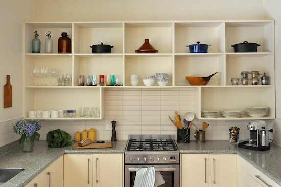 Open kitchen shelving Kitchen self design