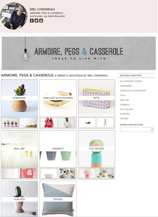 Armoire Pegs & Casserole Great.ly store