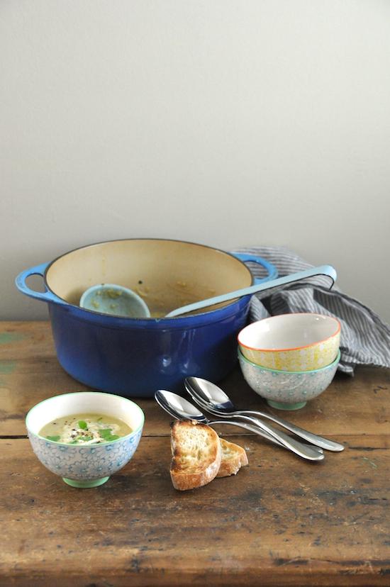 lemon lentil & spinach soup