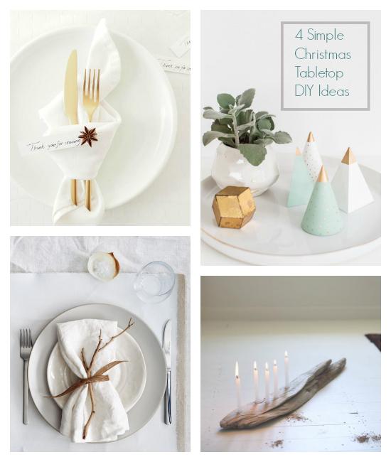 4 Simple Christmas Tabletop ideas