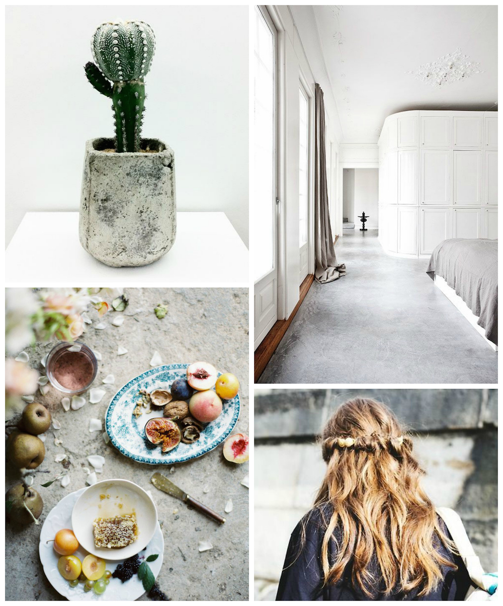 cement green and pink pinterest