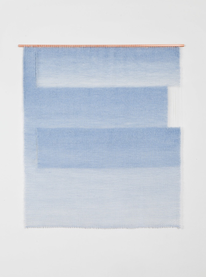 mimi jung weaving pale blue planes