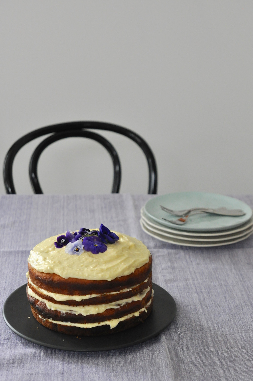 banana buttermilk layer cake