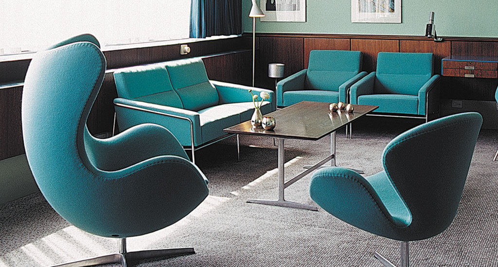 Raddison Hotel Denmark - designer bites - arne jacobsen