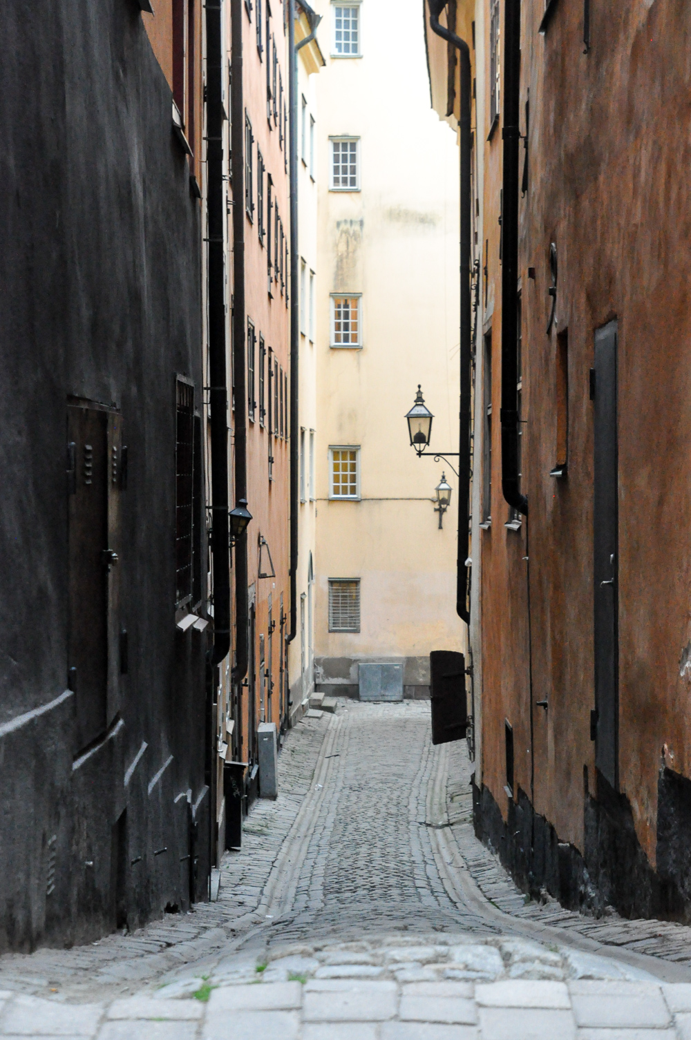 Alley ways of Gamla Stan, Stockholm's old town.